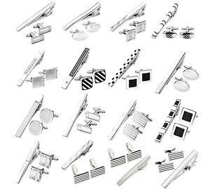 3pcs-set-Stainless-Steel-Necktie-Tie-Clip-Bar-Clasp-Cufflinks-Cuff-Links-Gift