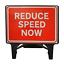 BRAND NEW 1050 x 750mm Road Traffic Safety Sign Reduce Speed Now