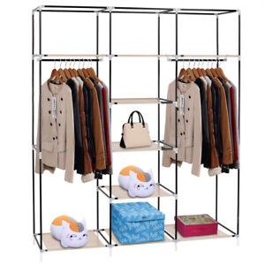 Closet-Organizer-Shelves-System-Kit-Shelf-Rack-Clothes-Storage-Wardrobe-Hanger