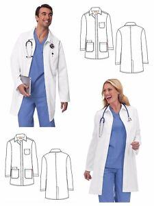 c0948094e8 Details about New Orange Standard Unisex Doheny Lab Coat G3402-01 White  Long Sizes XXS-XL