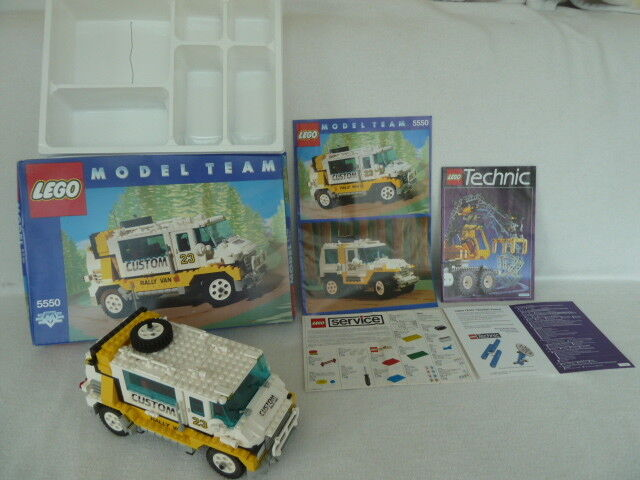 5550 Lego Model Team mit Bauanleitung (BA) + Originalkarton (1991) + Inlay