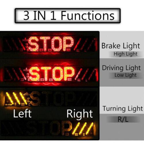 51 LED Motorcycle Rear Tail Stop Brake Turn Signal License Plate Light DRL L /_sh