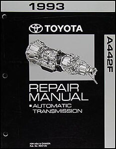 Details about 1993 Toyota Land Cruiser Automatic Transmission Repair Manual  A442F Shop Rebuild