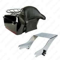 King Tour Pack Trunk For 1997 - 2008 Harley Davidson Touring Pak Vivid Black