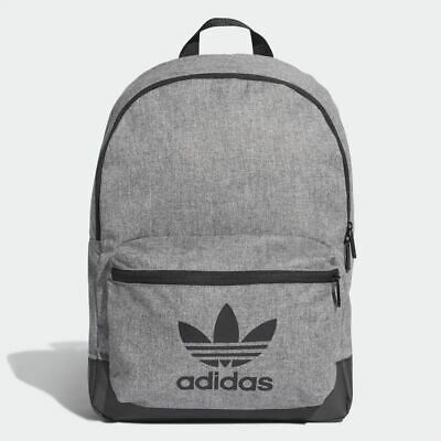 Adidas Originals Classic Melange Backpack Trefoil Grey Gym Bag Mens Women's | eBay
