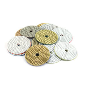 Diamond Polishing Pads 4 inch 1Pc Wet Buffing Pad Sets for Stone Marble Granite Glass Travertine Concrete Polishing 30 Girt