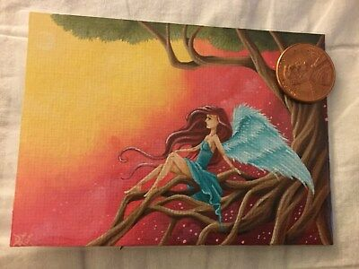 Butterfly Girl Art ACEO Print  Surreal Art