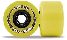 ABEC11 RETRO FREERIDE 72MM 83A yellow longboard skateboard SLIDE wheels freeride