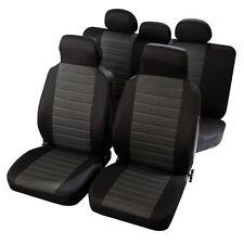 Housses de Siège 1/3 2/3 en Jacquart Noir et Gris pour Ford Fiesta Focus - QD76