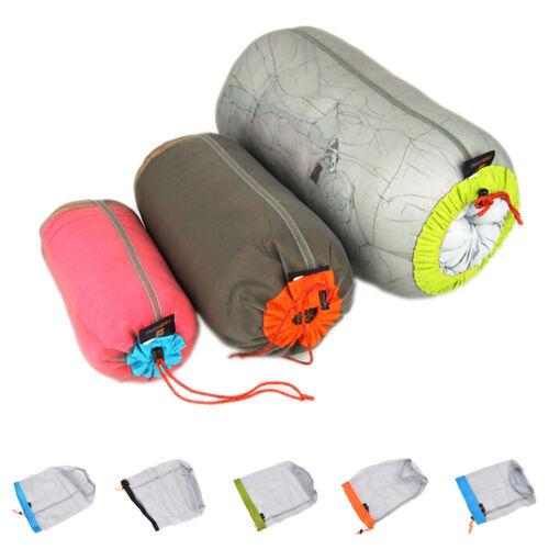 Ultralight Clothes Shoes Mesh Stuff Sack Storage Drawstring Bag Tavel CampingHDU
