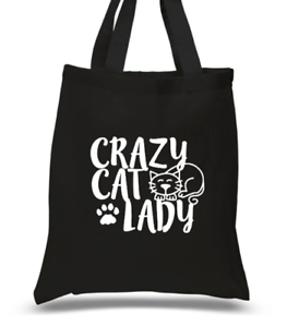 Crazy Cat Lady Funny Kitten Shopping Tote Bag For Life Ladies Gift