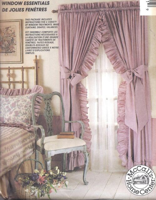 6973 UNCUT McCalls SEWING Pattern Window Coverings Valance Cafe OOP Curtains SEW