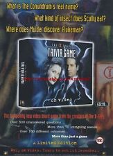 The X-Files Trivia Game On Video 1997 Magazine Advert #3635
