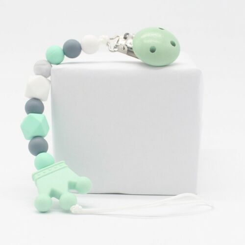 Baby Dummy Chain Silicone Pacifier Clip Bead Dummy Clips Infant Taiyun