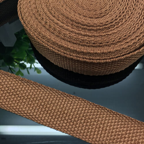 New 2//5//10//50 Yards Length 20mm//25mm Wide Strap Nylon Webbing Strapping Pick J