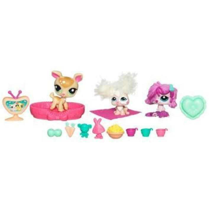 Littlest Pet Shop Sleepy Tails Tails Tails Party DEER MOP DOG BUNNY lot NIB  9e9a87