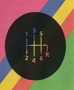 Clair-RENAULT-MEGANE-II-LAGUNA-ESPACE-TRAFIC-6-gear-knob-cover-Sticker
