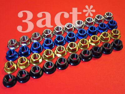 10 Ti Blue Black M12 X 1.25 Pitch Titanium/ti Sprocket Flange Bolt Nut Gold
