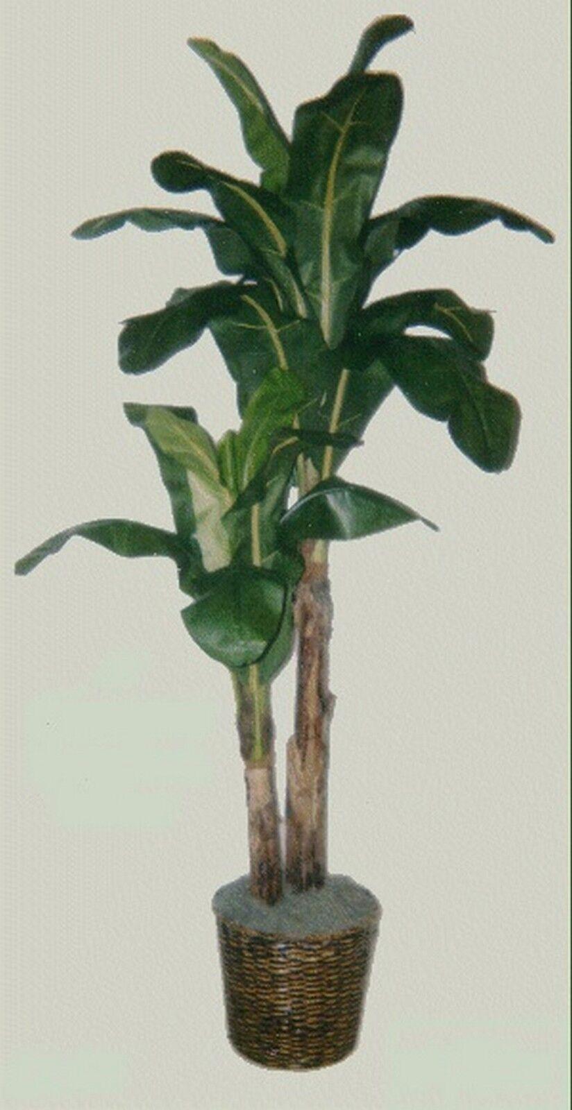 8 Banana Palm Artificial Silk Tree Plant Topiary Basket Arrangement