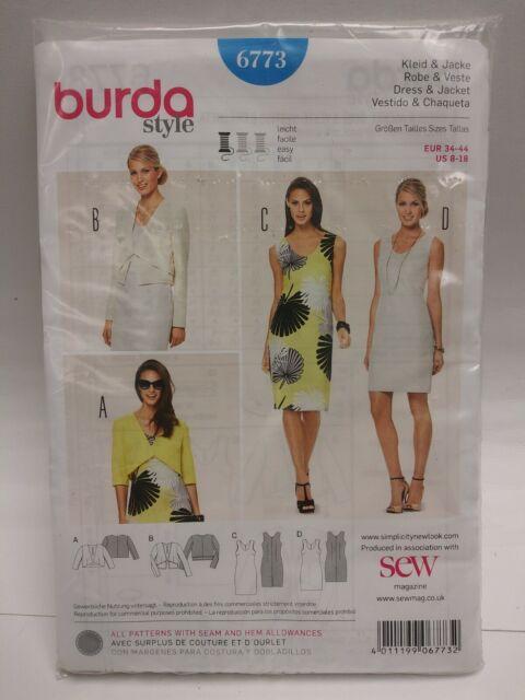 BURDA PATTERN BANDEAU BIKINI TOP MATCHING BOY SHORTS SKIRT DRESS SZ 8-18 # 7228