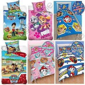 REDUCED-Paw-Patrol-Boys-Girls-Single-amp-Double-Duvet-Cover-Kids-Bed-Sets