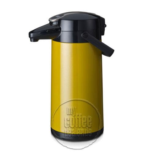 Bonamat Pumpkanne Airpot Furento 2,2 L Edelstahl gelb//innen Stahl NEU