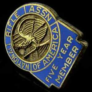 Vintage Official Nra Membership Lapel Pin Back 10k Gold