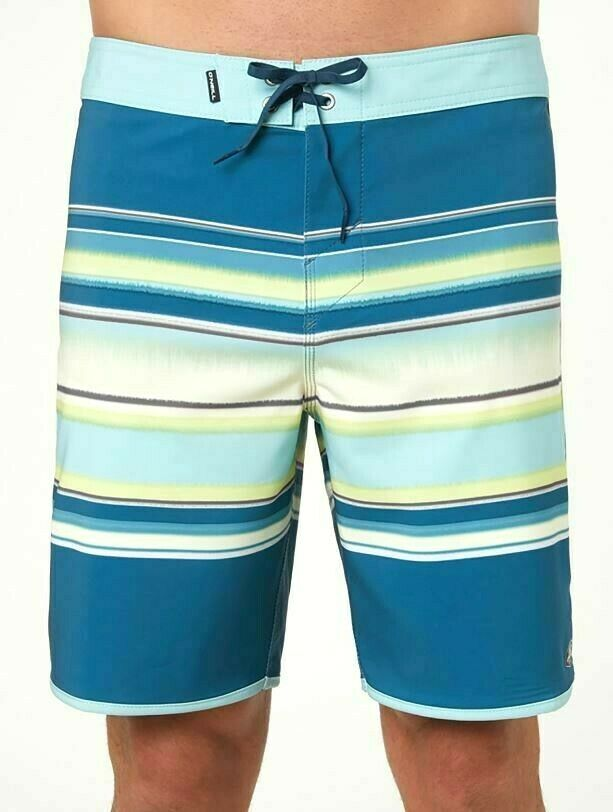 O'Neill HYPERFREAK LINED UP Mens Polyester Stretch Boardshorts 32 Dark bluee NEW