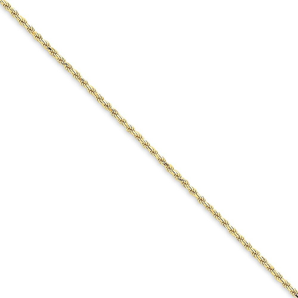 Genuine 14k Yellow gold 1.6mm Solid D C  w  Lobster Rope Chain  6 inches 1.71gr