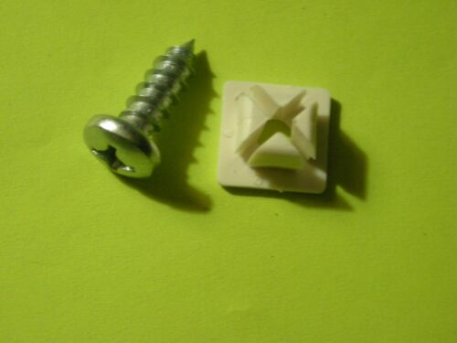 """License Plate Nuts Nylon Universal #14 With 3//4/"""" Phillip Head Screws  Qty of 50"""