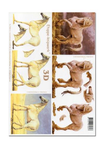 009 3D Bogen Motivbogen Etappenbogen Bastelbogen Pferd Pferde
