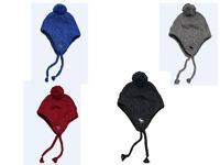$48 Abercrombie & Fitch Knit Winter Hat W/faux Fur Lining