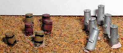 Langley Models 6 Large 50 gallon Wooden Barrels N Scale UNPAINTED Model Kit A86