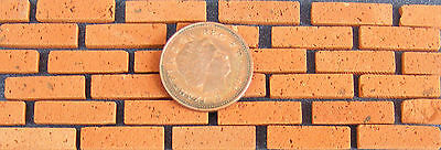 500 Dolls House Miniature Hand Made Basic Red Brick Slips Garden Accessory