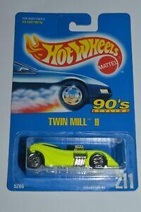 1992 Hot Wheels Twin Mill II Col #206 Chrome Base Version