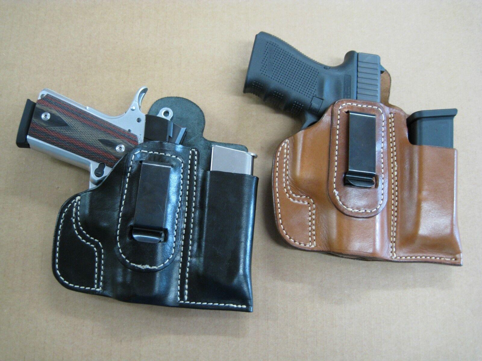 Funda de cuero IWB Combo Azula bolsa del Mag CCW Para Elegir.. Gun & Color - 1