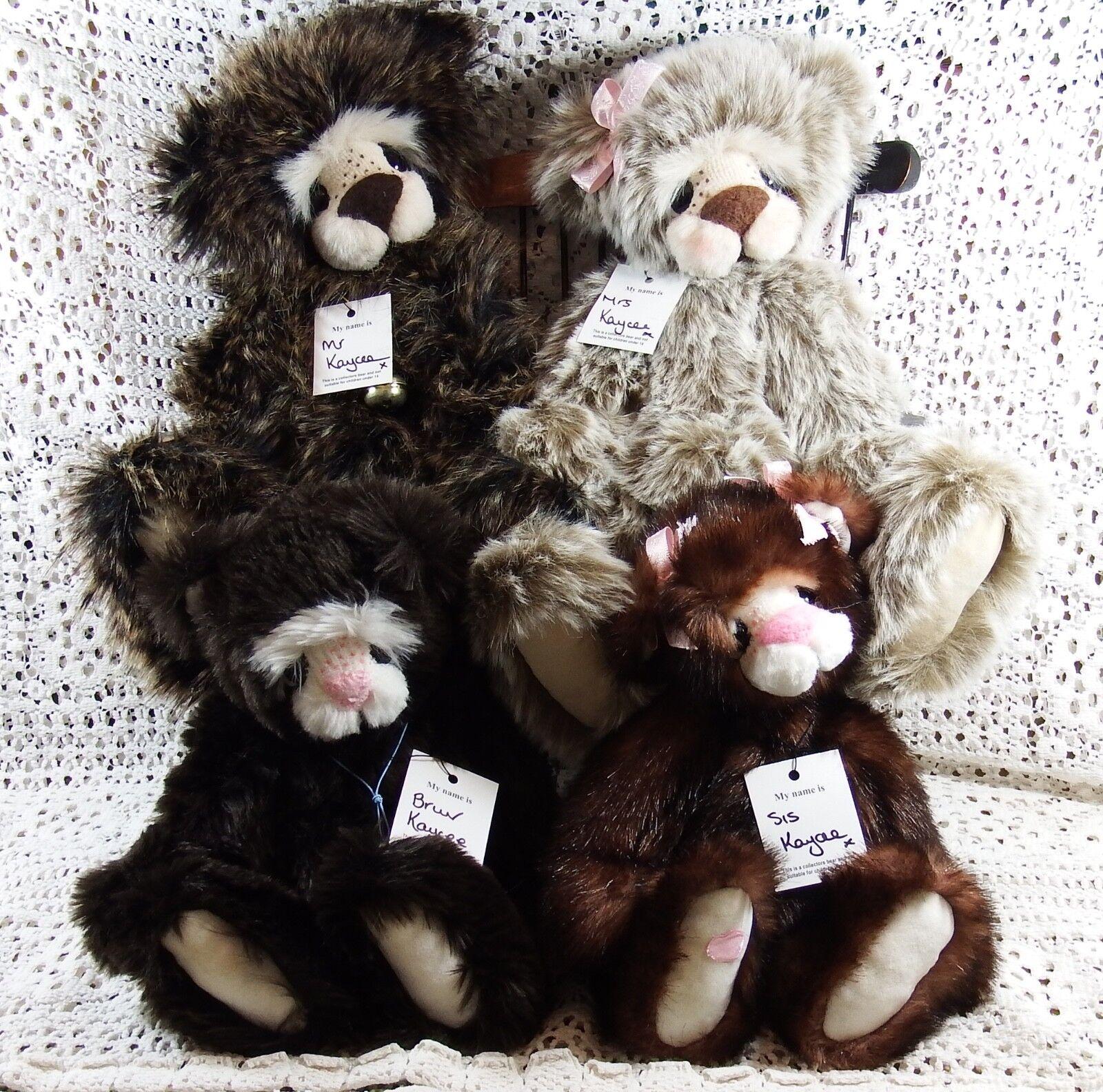 Rare 1st Edtn Kaycee Bears Family Mrs Kaycee Mr Kaycee Bruv Kaycee & Sis Kaycee