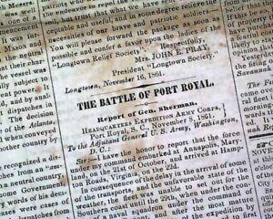 CHARLESTON-SC-South-Carolina-CONFEDERATE-Civil-War-1861-Old-Southern-Newspaper