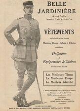 J0739 Belle Jardinière - Uniformes Militaires - Pubblicità d'epoca - 1918 Old ad