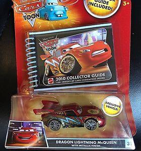 Voitures Disney Toon Modellini: Dragon Lightning McQueen avec finition métallique
