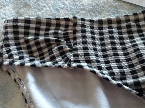 Femmes Maternité Bas De Bikini Noir Blanc Carreaux plusieurs tailles Nouveau Tag
