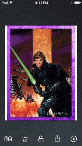 Topps Star Wars Digital Card Trader Purple Evolution Comics Dark Empire Insert