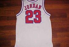 Michael Jordan 23 Air Jordan Boys White Red Blue Basketball Jersey M 10-12