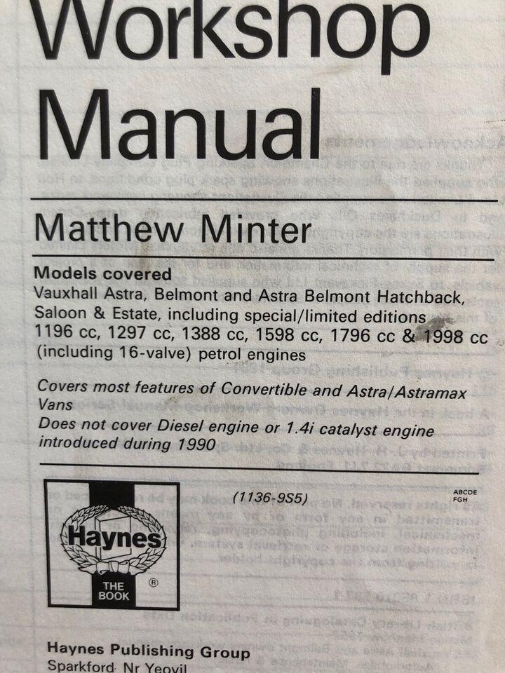 Reparationshåndbog, Haynes - Opel Kadett E 1984-1990 /