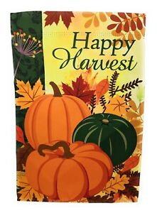 Happy Harvest Garden Flag Double Sided 12 X 18 Ebay