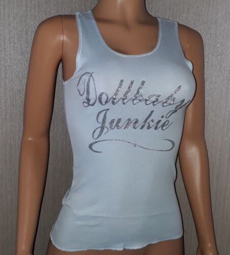 Uk Top Fitted Blue Back amp; 8 Wheels Glitter 10 Tank Vest Bnwt 2 Racer Dollbaby XqEzw7xwY