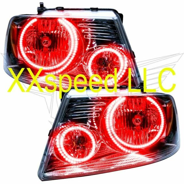 Oracle Halo Headlights Ford F150 05 08 Red Led Angel Demon Eyes