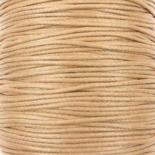 0,6 mm Waxed Cotton Cord filettatura Shamballa Macrame Gioielli-Naturale - 10 metri