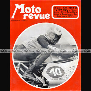 MOTO-REVUE-N-2051-TCHERNINE-JAWA-JACQUES-ROCA-HONDA-CB-750-FOUR-DUCATI-125-1971