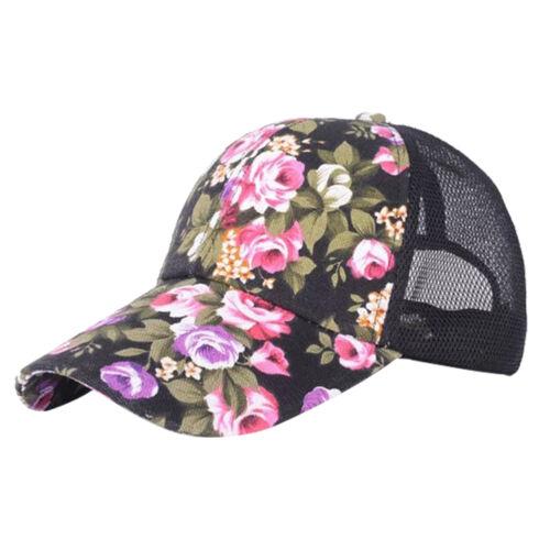 Bekleidung Funsport Damen Blumen Hut Mesh Cap Basecap Baseball Hysteresen Mütze Hip Hop